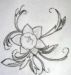 Daffodil tattoo (Eli's birth flower)