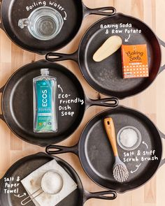 Iron Skillet Cleaning, Cleaning Cast Iron Pans, Cast Iron Skillet Cooking, Best Cast Iron Skillet, Cast Iron Wok, Cast Iron Griddle, Iron Skillet Recipes, Cast Iron Recipes, Cast Iron Cookware
