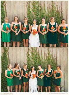 Orange and Green Watertown, SD Wedding by Amanda Fritz Photography.