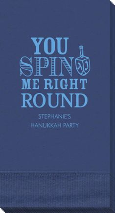 Personalized You Spin Me Right Round Guest Towels