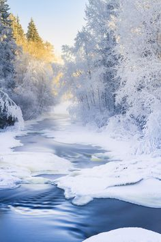 Winter river by Ilari Lehtinen on 500px