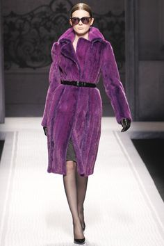 Purple mink  ~ Alberta Ferretti ~ F/W 2012-13