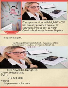 IT support services in Raleigh NC - CSP has proudly provided premier IT Solutions and Support to North Carolina businesses for over 20 years.  Call 919.424.2000 for Raleigh IT Support.  http://www.cspinc.com