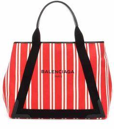 aface68d5cb8 Navy Cabas M striped canvas shopper | Balenciaga Gucci, Balenciaga Bag,  Striped Canvas,