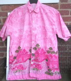 Thailand Long Live The King Shirt Thai Language House Ladies Covered Boats Pink #CorallineAlgae #ButtonFront