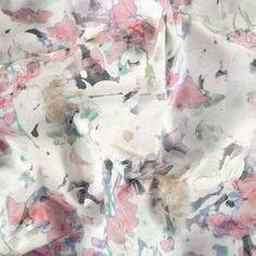 0d547396 Percale watercolour abstract flowers - Stoff & Stil - Ideal for pillows,  cushions and
