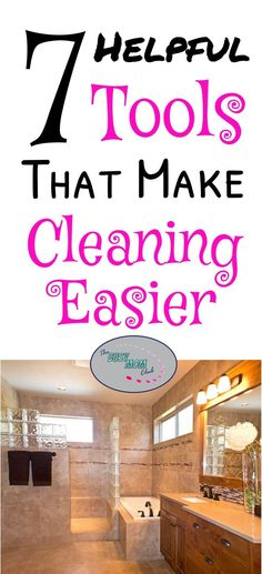 Cleaning can be easier with these helpful cleaning tools!  Speed up your clean up with these simple, yet helpful cleaning tools.  #cleanhouse #thebusymomclub #cleaningtips #organizationtips #busymomtips #momtips #momlife via @suryachronister