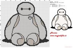 Baymax (Big Hero 6) cross stitch pattern
