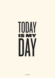 Today is my day Sezane Typography Card #sezane #journalsezane