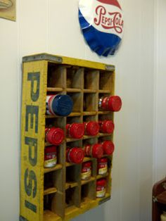 Hey I thought I invented this idea. I've been using a Pepsi crate for a spice rack many years.