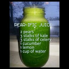 Food & Fabric: Pear-ific Juice Cleanse