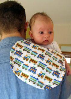 DIY Burp Cloths #baby #burpcloths #DIY @When Regarding Ruffles.