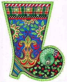 Cowboy stocking illustration