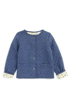 Mini Boden Reversible Quilted Jacket (Toddler Girls, Little Girls & Big…