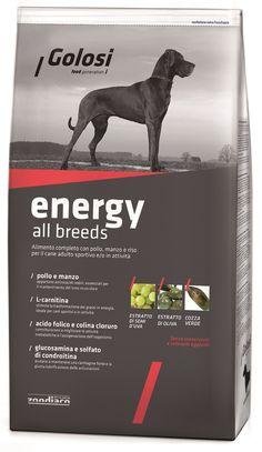 Golosi energy, πλήρης σκυλοτροφή με κοτόπουλο, μοσχάρι και ρύζι για ενήλικους αθλητικούς σκύλους!