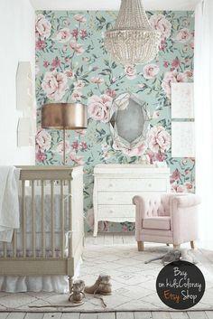 vintage floral baby nursery photography justine milton www