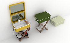 My Bag – portable bathroom by Olympia Ceramica