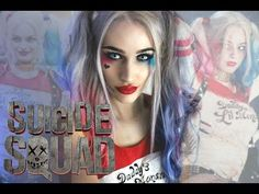 Harley Quinn makeup tutorial | Suicide Squad - YouTube