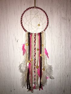 Pink Dream Catcher by SignsByAleasa on Etsy