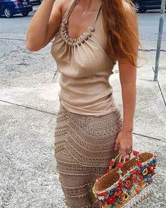 crochet Crochet Skirts, Knit Skirt, Crochet Clothes, Crochet Lace, Diy Clothes, Knit Dress, Vanessa Montoro, Saturday Outfit, Crochet Woman