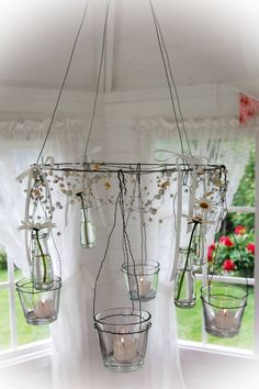 I want to make something similar to this using antique glass insulators and hang it in our tree house.