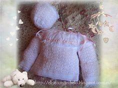 El rincón de Chelo: Chaqueta y capota para bebé