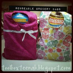 teenah's projects: Reuseable Grocery Bags