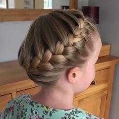 Girl Hair Dos, Baby Girl Hair, Braids For Girls Hair, Box Braids Hairstyles, Short Hairstyles For Girls, French Hairstyles, Easy Toddler Hairstyles, Ballet Hairstyles, Braided Crown Hairstyles