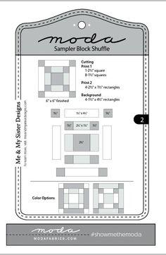 Moda Sampler Block Shuffle -  Block # 2