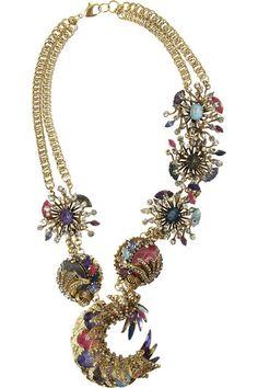 Erickson Beamon 'Clairvoyant' gold-plated Swarovski crystal necklace