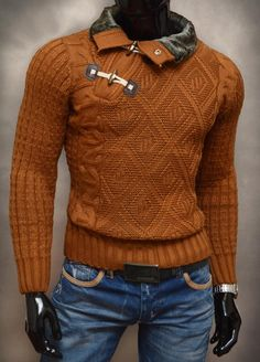 -sweter męski, golf -bardzo ciepły i gruby -najwyższa jakość wykonania -materiał 70% wełna, 30% akryl -na tej aukcji kupujesz kolor BRĄZOWY