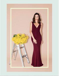 Alquiler de vestidos de Fiesta en Bogotá !  Haz click aquí:  http://www.pretarent.com.co/shop/producto/vestido-v-neck-mermaid-gown