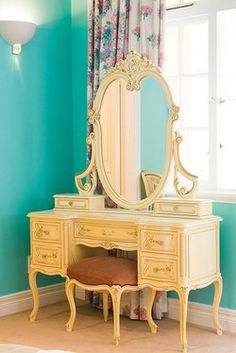 Rococo Vanity. Mommy's personal make-up heaven.