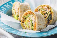 roll, healthy snacks, food, tunasalad, salad pinwheel