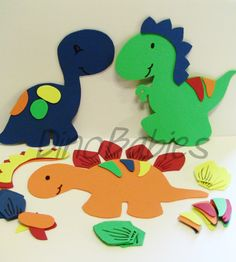 Dinosaur Bath Set on Etsy! Kids will have fun mix and matching these!