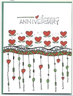 Zenspirations Dangle Anniversary by scootsv - Cards and Paper Crafts at Splitcoaststampers