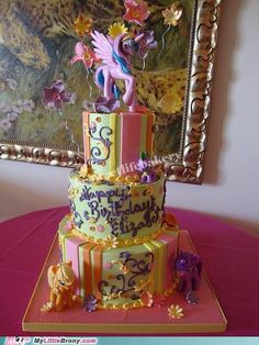 MY LITTLE PONY! oh my goodness gracious...next birthday cake?!?!?! it has my name on it and everything already!