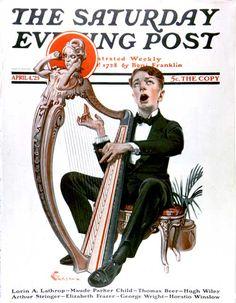 Offkey Harpist by E.M. Jackson