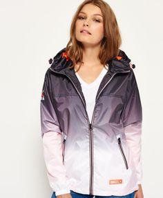Superdry - Veste imperméable zippée aéro tricolore - Vestes et manteaux pour Femme