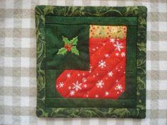 christmas mug rug | Christmas Mug Rug