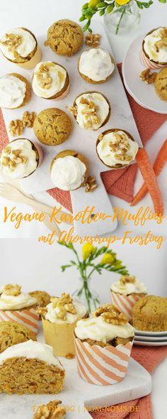 Vegane Karotten-Muffins mit Ahornsirup-Frosting