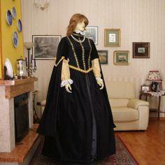 ABITI STORICI FEMMINILI 1600 SPAGNOLO Abito costume Storico Femminile Inizi 1600 Spagnolo