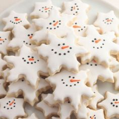 Smiling snowflakes are a perfect way to enjoy one-dimensional snowmen!