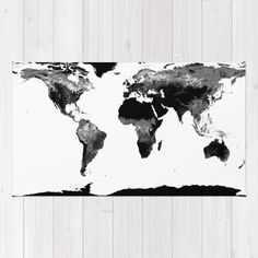 Ikea flygtur area throw rug mat bue kids decor airplane throw rugs buy area throw rugs with design featuring world map black white by whimsyromancefun and gumiabroncs Image collections