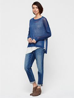 I LOVE the styling on this one. @EILEENFISHER - we love you!