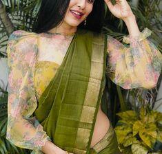 Saree Jacket Designs, Designer Blouse Patterns, Fancy Blouse Designs, Latest Saree Blouse Designs, New Saree Designs, Full Sleeves Design, Sleeves Designs For Dresses, Full Sleeves Blouse Designs, Sleeve Designs
