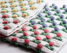 Crochet Pattern Fairytale Garden Blanket  Digital file PDF