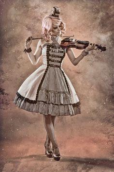 """""""Time Traveler"""": Steampunk Lolita Double-Layer Dress/JSK"""