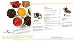 Ente Keralam - Spices Menu Design