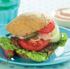 Chilli burger med hjemmelavede LCHF-burgerboller